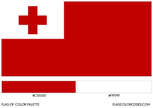 Tonga Flag Color Palette