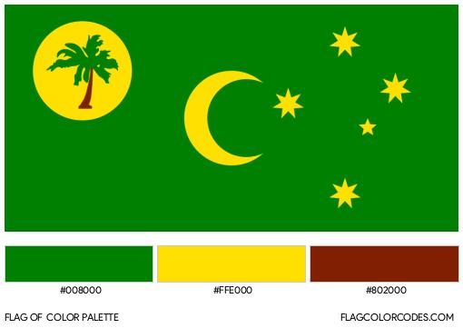 Cocos (Keeling) Islands Flag Color Palette