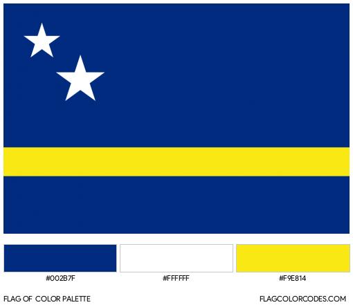 Curaçao Flag Color Palette