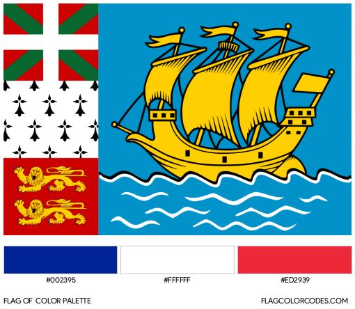 Saint Pierre et Miquelon Flag Color Palette