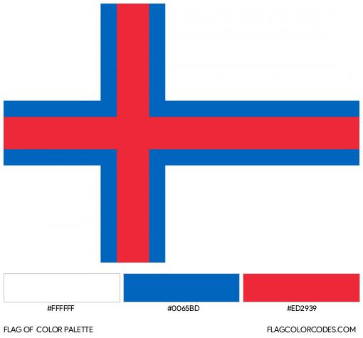Faroe Islands Flag Color Palette