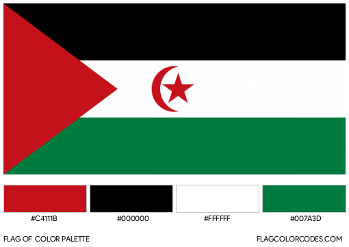 Sahrawi Arab Democratic Republic Flag Color Palette
