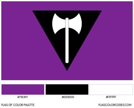 Labrys Lesbian Flag Color Palette