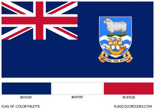 Falkland Islands Flag Color Palette