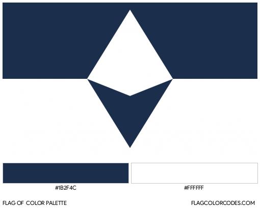 South Antarctic Flag Color Palette