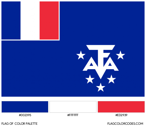 French Southern and Antarctic Lands Flag Color Palette