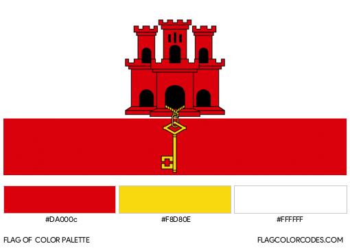 Gibraltar Flag Color Palette