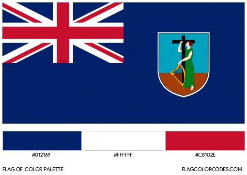 Montserrat Flag Color Palette