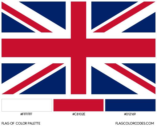 United Kingdom Flag Color Palette