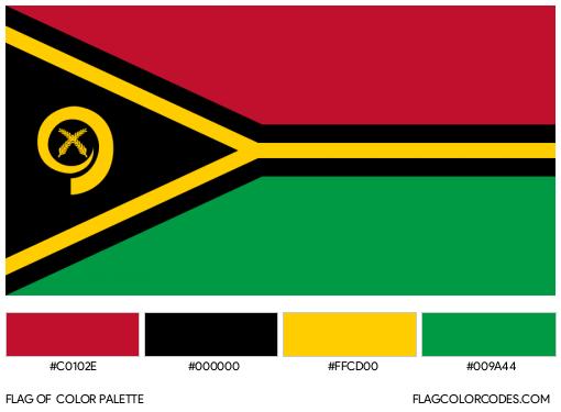 Vanuatu Flag Color Palette