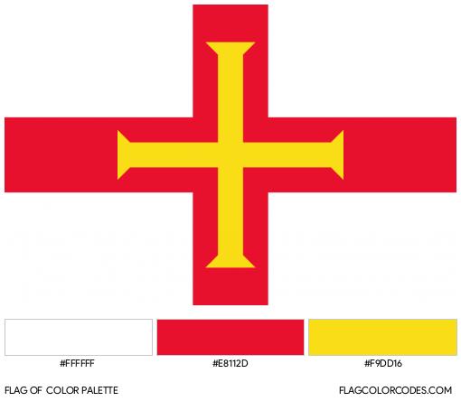 Guernsey Flag Color Palette