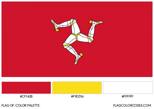 Isle of Man Flag Color Palette
