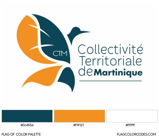 Martinique Flag Color Palette