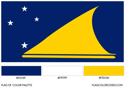 Tokelau Flag Color Palette