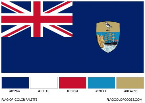 Saint Helena Flag Color Palette