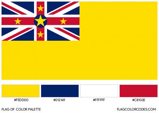 Niue Flag Color Palette