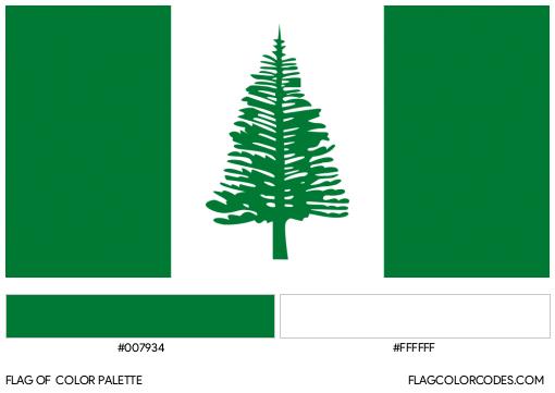 Norfolk Island Flag Color Palette