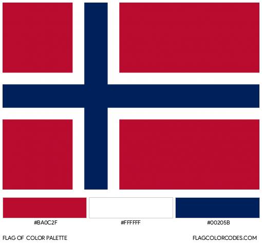 Svalbard and Jan Mayen Islands Flag Color Palette