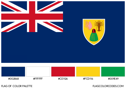 Turks and Caicos Islands Flag Color Palette