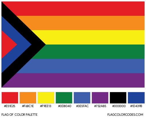 Social Justice Pride Flag Color Palette