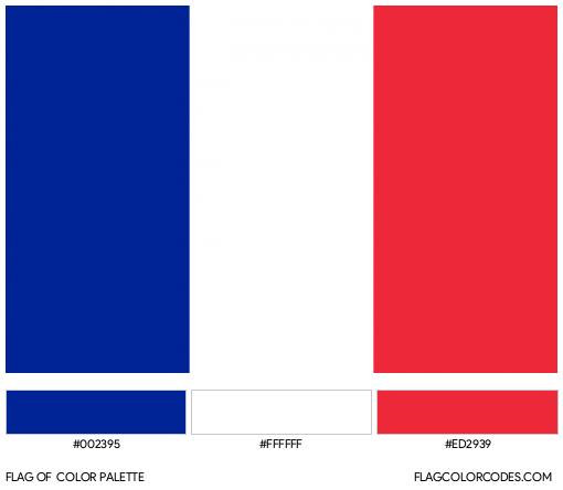 Saint-Martin Flag Color Palette