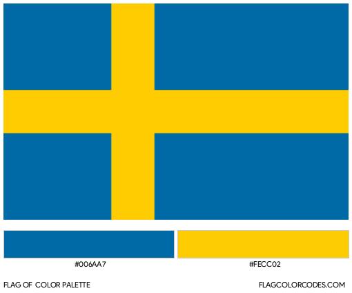 Sweden Flag Color Palette