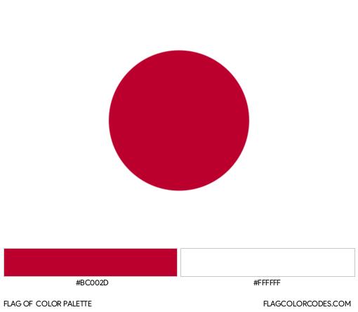 Japan Flag Color Palette