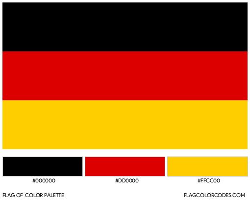 Germany Flag Color Palette