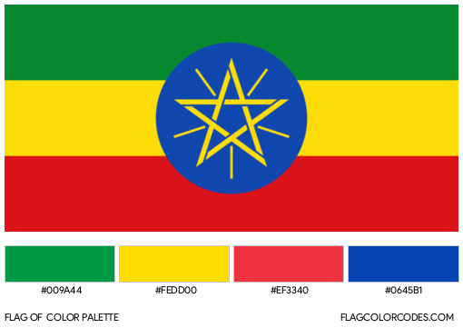 Ethiopia Flag Color Palette