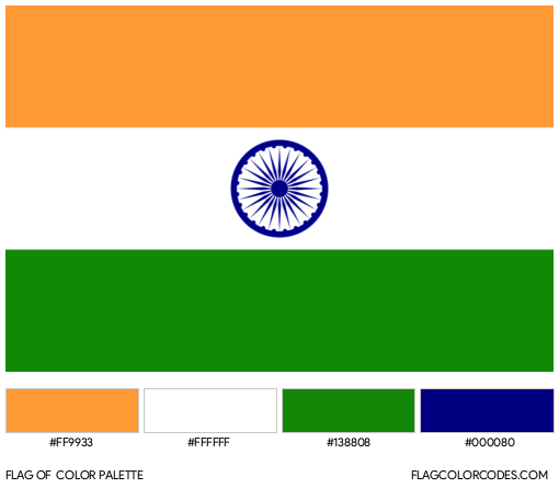 India Flag Color Palette
