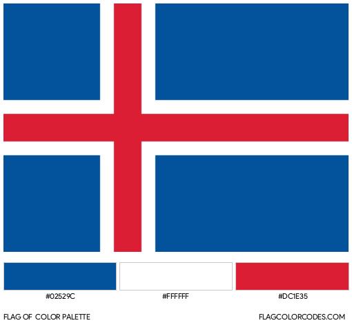 Iceland Flag Color Palette