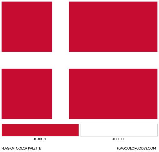 Denmark Flag Color Palette