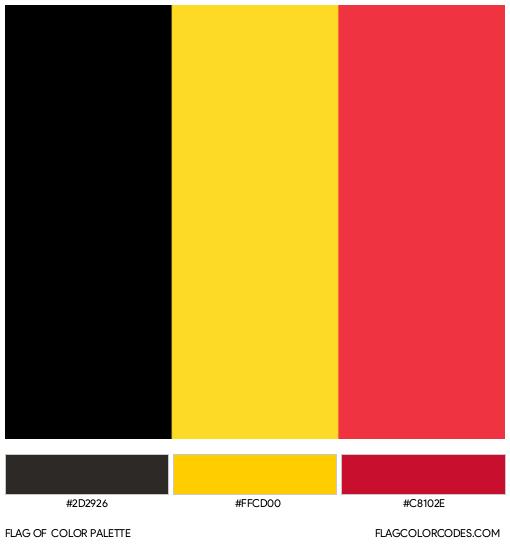 Belgium Flag Color Palette
