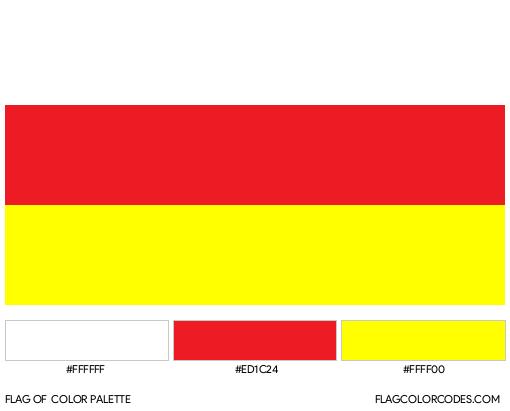 South Ossetia Flag Color Palette