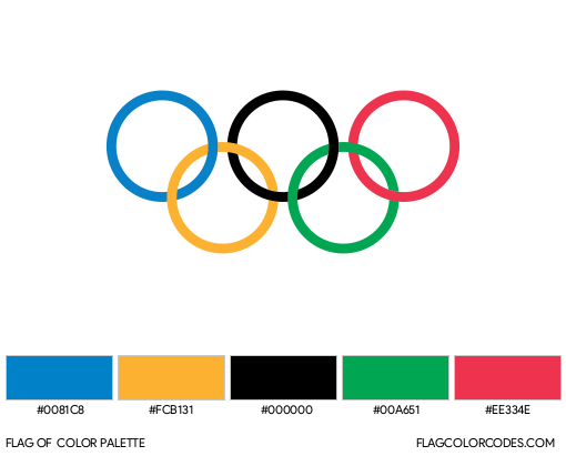 Olympic Rings Flag Color Palette