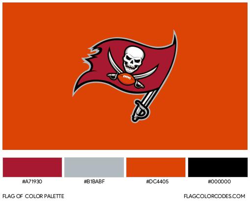 Tampa Bay Buccaneers Flag Color Palette