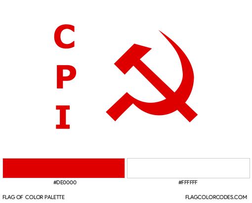 Communist Party of India Flag Color Palette