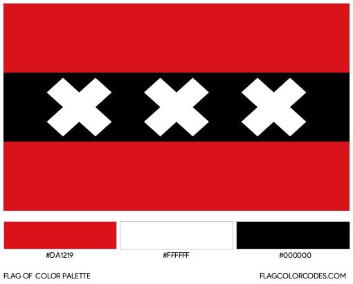 Amsterdam Flag Color Palette