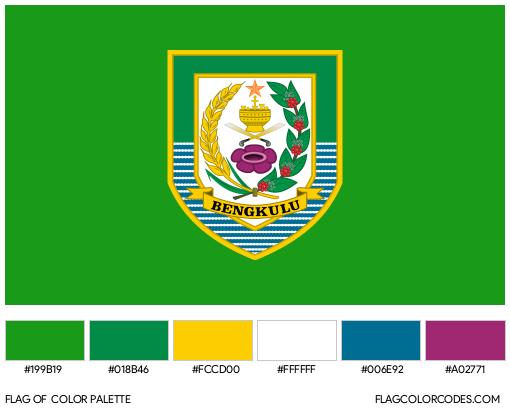 Bengkulu Flag Color Palette