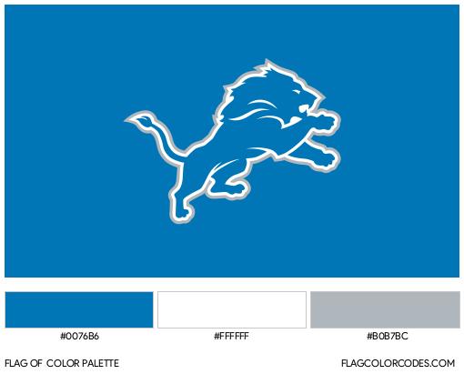 Detroit Lions Flag Color Palette