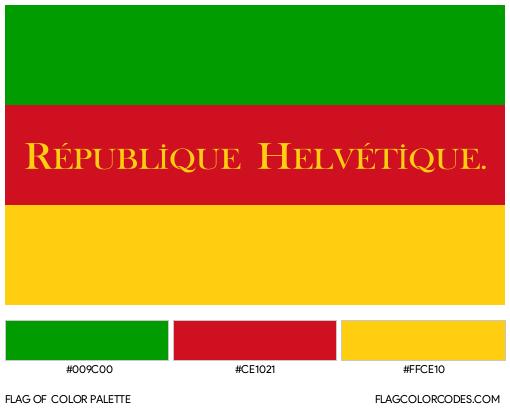 Helvetic Republic Flag Color Palette