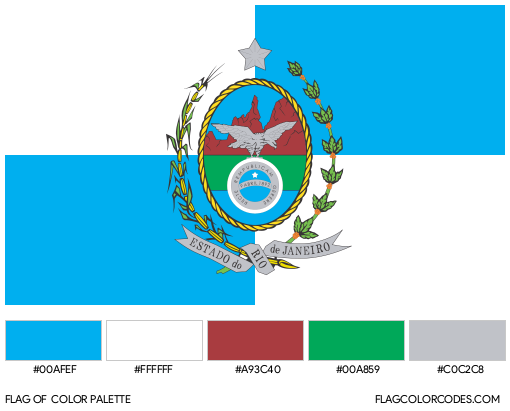 Rio de Janeiro Flag Color Palette