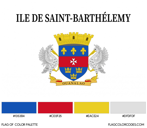 Saint Barthélemy (Unofficial) Flag Color Palette