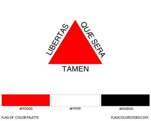 Minas Gerais Flag Color Palette