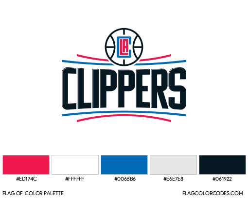 Los Angeles Clippers Flag Color Palette