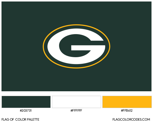 Green Bay Packers Flag Color Palette