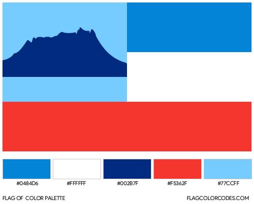 Sabah Flag Color Palette