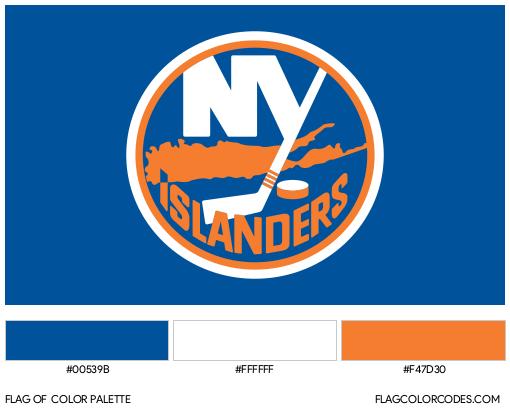 New York Islanders Flag Color Palette