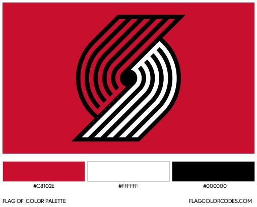 Portland Trail Blazers Flag Color Palette