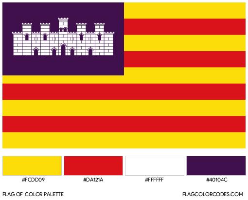 Balearic Islands Flag Color Palette